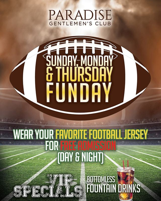 Come by after the game to see your favorite girls for some one on one action!!! #paradisegentlemensclub #lapuente #valleyblvd #vipspecials #freeadmissionwithfootballjersey #cityofindustry #sgv #hotties #tna #westcovina #covina