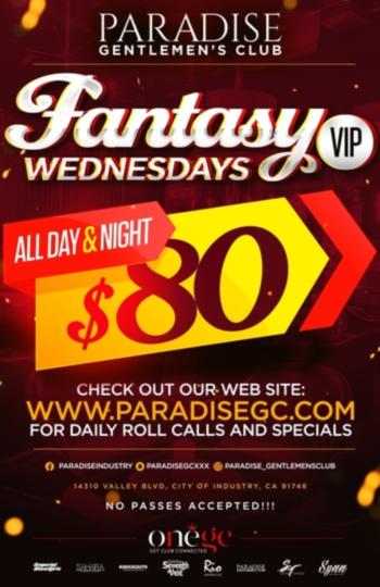 $80 VIP SPECIALS ALL NIGHT LONG